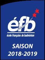 École française de badminton 2 étoiles - saison 2018-2019